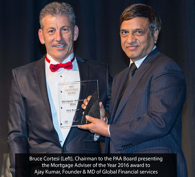 Ajay Kumar wins Mortgage Adviser of the Year 2016 award from PAA